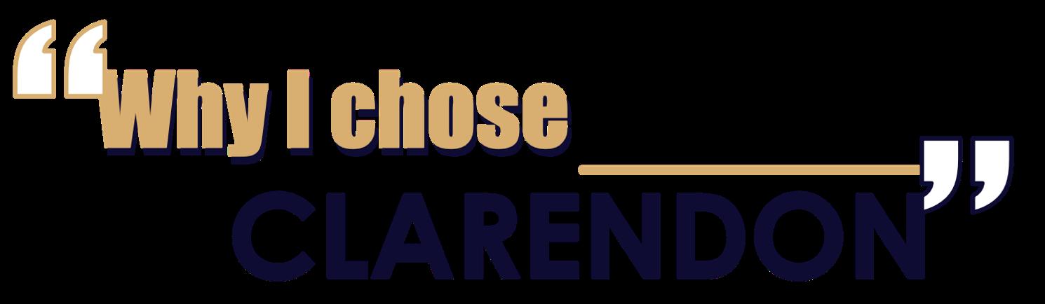 Why i chose clarendon logo